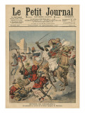 Near Casablanca, the Goumiers Charging at the Moroccans Giclee Print by  French School