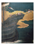 The Arrival of the Portuguese in Japan, Detail of Ship's Prow Giclee Print by  Japanese School