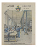 Apprentice School, Interior of a Workshop, Front Cover of a Schoolbook Giclee Print by G. Dascher