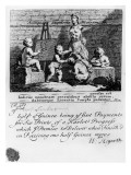 A Subscription Ticket for 'A Harlot's Progress', 1731 Premium Giclee Print by William Hogarth
