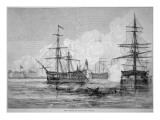 The Attack on Sullivan's Island, June 28th 1776 Premium Giclee Print by  American School
