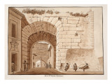 Interior of the Porta San Lorenzo, 1833 Giclee Print by Agostino Tofanelli