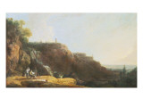 The Great Cascade and Villa of Maecenas at Tivoli Reproduction procédé giclée par Richard Wilson
