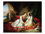 Byron as Don Juan, with Haidee, 1831 Giclee Print by Alexandre Colin