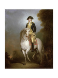 Equestrian Portrait of George Washington Giclee Print by Peale