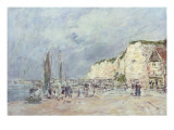 The Cliffs at Dieppe and the 'Petit Paris' Giclee Print by Eugène Boudin