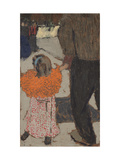 Child Wearing a Red Scarf, C. 1891 Giclee Print by Edouard Vuillard