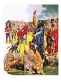 Tales of the Canadian Mounties: the Long March Giclee Print by Mcbride 