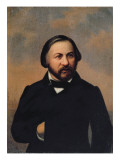 Portrait of Mikhail Ivanovich Glinka Giclee Print by Russian School