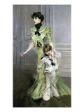Madame Georges Hugo and Her Son Jean, 1898 Premium Giclee Print by Giovanni Boldini