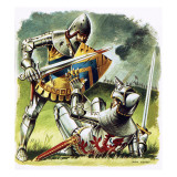 A Wounded Knight Surrendering to His Foe Giclee Print by  Escott