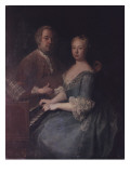 Karl-Heinrich Graun and His Wife Anna-Louise, C.1735 Giclee Print by  Pesne