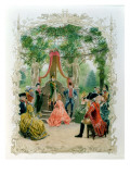 Masonic Initiation Ceremony of a Lady Freemason in C.1785, 1890 Giclee Print by Maurice Leloir