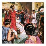 Domitian, the Emperor Who Liked to Play Games Giclee Print by Clive Uptton