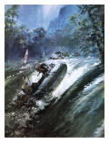 Colonel Blashford-Snell's Congo Expedition Giclee Print by Graham Coton