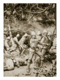 Fighting a Road Through the Forest on the Way to Coomassie Giclee Print by H.m. Paget