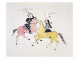 Symbolic Portrayal of the Conflict Between the Indians and the Whites Giclee Print by Kills Two