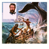 They Lived their Books: the Quest for Moby Dick Giclee Print by  McConnell
