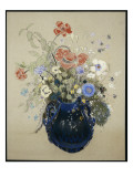 A Vase of Blue Flowers, C.1905-08 Giclee Print by Odilon Redon