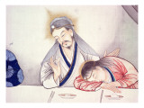 Last Supper, Christ and St John Premium Giclee Print by  Chinese School