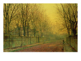 In the Golden Glow of Autumn, 1884 Giclee Print by  Grimshaw