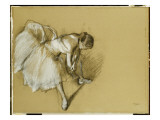 Dancer Adjusting Her Shoe, C.1890 Giclee Print by Edgar Degas