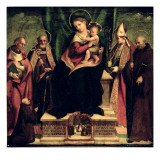 The Virgin and Child Enthroned with Saints Giclee Print by Andrea Sabatini