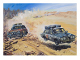 London to Sydney Motor Rally of 1968 Giclee Print by Graham Coton