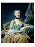 Madame De Sorquainville, 1749 Giclee Print by Jean-Baptiste Perronneau