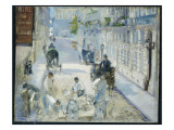 The Rue Mosnier with Workmen, 1878 Giclee Print by Édouard Manet