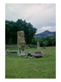 Stele in Forecourt of Central Plaza Giclee Print by Mayan