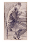 Portrait of an Artist Sketching, 1801 Giclee Print by John Constable
