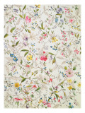 Wild Flowers Design for Silk Material, C.1790 Giclee Print by William Kilburn
