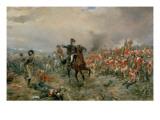 Il Duca di Wellington a Waterloo Stampa giclée di Robert Alexander Hillingford