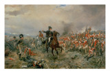 The Duke of Wellington at Waterloo Premium Giclee Print by Robert Alexander Hillingford