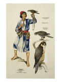 Yusef, Falconer to Sheik Mahmoud Hafiz Giclee Print by Ron Embleton