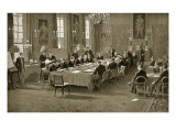 Signing the Treaty of London, 1913 Giclee Print by Samuel Begg