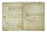 The Codex Hammer, Pages 48-51, 1508-12 Giclee Print by Leonardo da Vinci