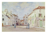 Rue De La Chaussee at Argenteuil Giclee Print by Claude Monet