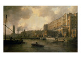 View of the Adelphi from the River Thames Giclee Print by William Marlow