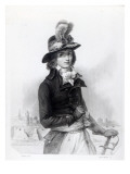 Louis Antoine De Saint-Just, Engraved by Bosselman Giclee Print by Denis Auguste Marie Raffet