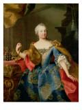 Portrait of Empress Maria Theresa of Austria Giclee Print by Martin II Mytens/ Meytens