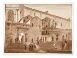 The Cloister of St. John Latran, 1833 Giclee Print by Agostino Tofanelli