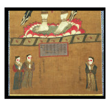 Female Figures Making Offerings to Avalokitesvara Giclee Print by Chinese School 