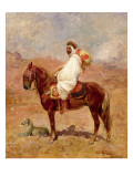 An Arab Horseman in a Desert Landscape Giclee Print by Henri Emilien Rousseau