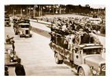 Workers on National Motor Roads Greet the Fuhrer Giclee Print by  German photographer