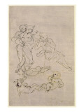 Figural Study for the Adoration of the Magi Giclee Print by Leonardo da Vinci