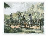 Negro Slaves Washing Diamonds, Curralinho Giclee Print by  Austrian School