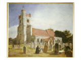 The Old Church, Ewell, 1847 Giclee Print by William Holman Hunt