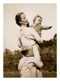 A National Socialist Ideal; a Happy Mother Reproduction procédé giclée par  German photographer